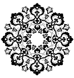 Black oriental ottoman design thirty three vector