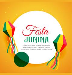 brazil festival of festa junina poster design vector image