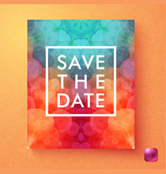 bright dynamic save the date wedding invitation vector image