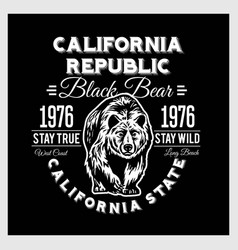 california republic vintage typography with a vector image