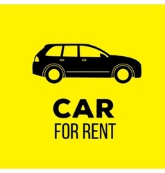 car for rent icon vector image