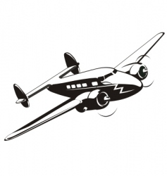 cartoon retro airplane vector image