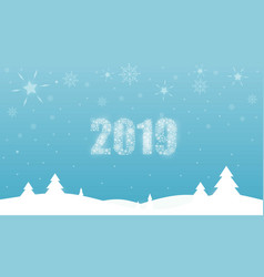 christmas card with blue color background vector image
