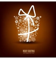 Christmas Snowflakes Gift Box vector image