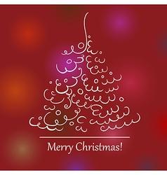 Christmas tree scroll 2 vector