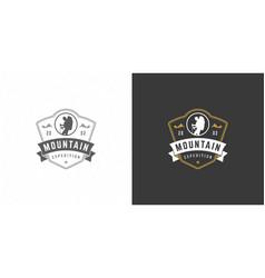 climber logo emblem outdoor adventure expedition vector image