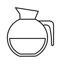 Coffee pot icon vector