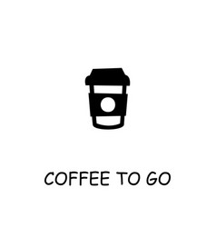 Coffee to go flat icon vector