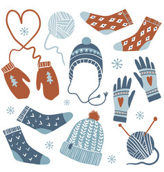 cozy winter set vector image