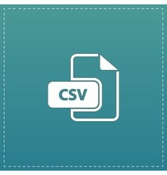 CSV extension text file type icon vector