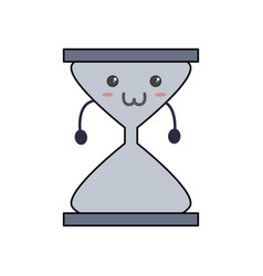 cute hour glass kawaii vector image
