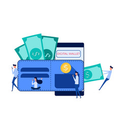 digital wallet mobile banking online finance vector image