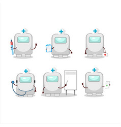 Doctor profession emoticon with among us white vector