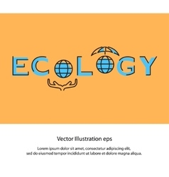 Ecology and environment business template vector