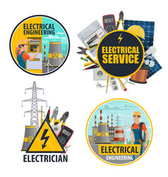 Electric power equipment and energy industry vector