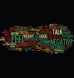 Eliminate negative thoughts and lose weight text vector