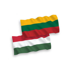 flags of lithuania and hungary on a white vector image