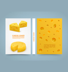 flyer cheese banner book a4 size paper template vector image