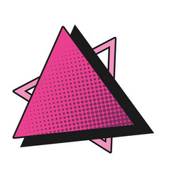geometric triangle cartoon vector image