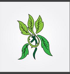 green leaf image vector image