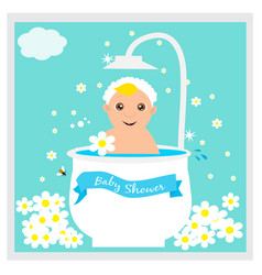 greeting card to newborn baby vector image