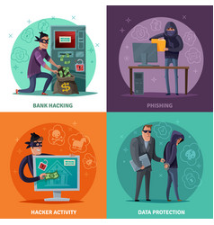hacker cartoon design concept vector image