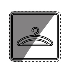 Hanger clothes element vector