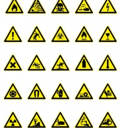 hazard icon set vector image