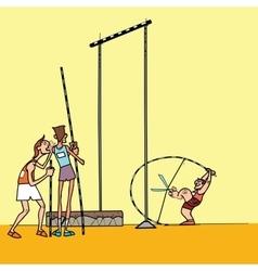 High jump athletes athletics vector image