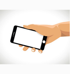 Holding a cell mobile phone vector
