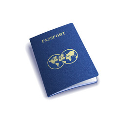 International passport cover template vector