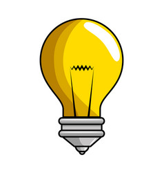 isolated bulb icon vector image