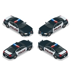 Isometric Moder american Police car vector