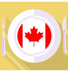 kitchen of Canada vector image