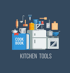 kitchen tools and items icons vector image