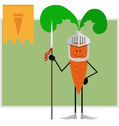 Knight carrots guard healthy eating and health vector