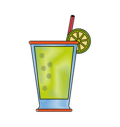 lemonade glass cup vector image