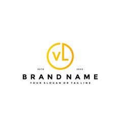 Letter vk logo design vector