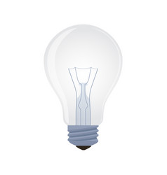 light bulb - element transparent lamp vector image