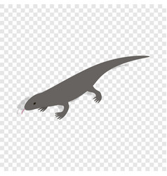 Lizard isometric icon vector