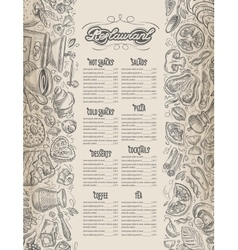 Menu design restaurant brochure Cafe vector image vector image