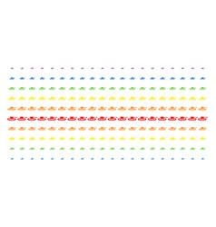 military tank shape halftone spectrum pattern vector image