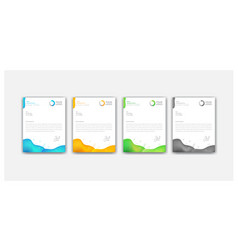 Modern colorful liquid style letterhead design vector