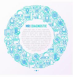 mri diagnostics concept in circle vector image