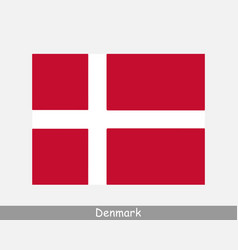 National flag denmark danish country flag vector