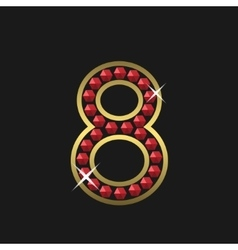 Number eight symbol vector