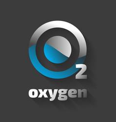 Oxygen icon vector