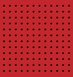 Perforated red seamless pattern vector