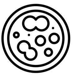 Petri dish line style icon vector