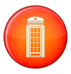 Phone booth icon flat style vector